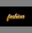 fashion word text banner postcard logo icon vector image vector image