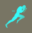 fighter sports concept 3d model of man vector image vector image