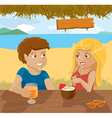 flirting couple vector image