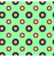 Flowers geometric seamless pattern 804 vector image vector image