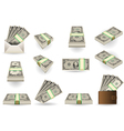 Full Set of One Dollar Banknotes vector image