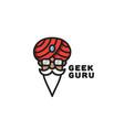 geek guru logo vector image