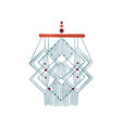 geometric macrame wall hanging made of cotton cord vector image vector image