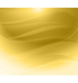 Gold background wave vector image vector image