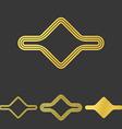 Golden line abstract logo design set vector image vector image
