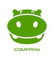 green hippo logo vector image