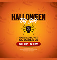 halloween sale with spider and vector image vector image