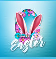 happy easter holiday design with spring flower in vector image vector image