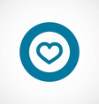 heart bold blue border circle icon vector image vector image