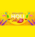 holi sale banner social media promo ad vector image