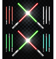 Light swords Star war Laser weapons laser sword vector image