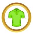 Mens green polo icon vector image vector image