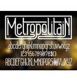 Metropolitain font Minimalistic typeface vector image vector image