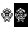 mexican skull vector image vector image
