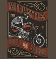motorcycle vintage colorful poster vector image