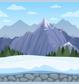 mountain seamless background outdoor cartoon vector image vector image