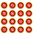 no insect sign icon red circle set vector image vector image