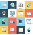 pack of web and seo icons vector image vector image