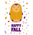 penguin in a yellow raincoat children holiday vector image