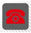 Phone Settings Rounded Square Button vector image