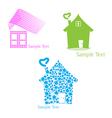 Real estate set of symbols for logo designing vector image vector image