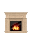 Realistic Marble Fireplace with Fire Isolated vector image vector image
