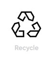 recycle icon editable outline vector image vector image