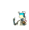 robot teacher distance education during vector image