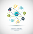 Scientific research concept Chemical banner vector image vector image