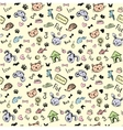 seamless pet pattern hand drawing vector image vector image
