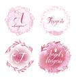 set lingerie logo vector image
