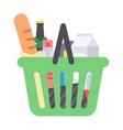 Shop product basket vector image vector image