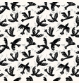 silhouette flying birds seamless pattern vector image vector image
