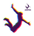 silhouette of a jumping man design for sport vector image vector image
