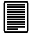 simple notepaper paper sheet icon stationery vector image vector image
