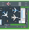 terminal aircraft vector image vector image