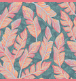 tropical banana leaves abstract pastel color vector image vector image