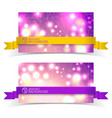 two banner set for design vector image vector image