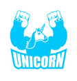 unicorn is strong and angry powerful