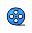 video movie or film reel simple outline color vector image