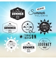 Vintage summer holidays typography design in