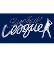 White baseball league embroidery stitching text vector image vector image