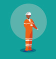 worker industrial avatar character vector image vector image