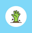 zombie hand icon sign symbol vector image