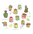 Doodle Jars set vector image