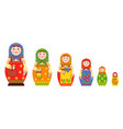 matryoshka flat icons collection vector image