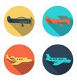 plane icons set flat design vector image