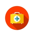 First aid flat icon with long shadow vector image