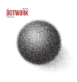 Halftone 3D Ball template Dotwork Tattoo Style 3D vector image