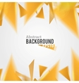Orange abstract triangle background vector image
